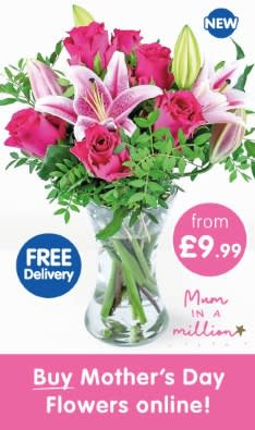 Save on fresh flowers delivered from B&M.
