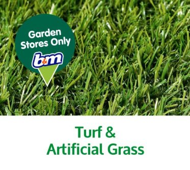 Save on turf and artificial grass at B&M.