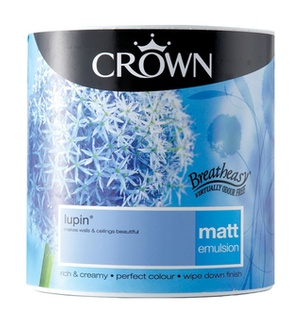 Crown Matt Emulsion Lupin Paint