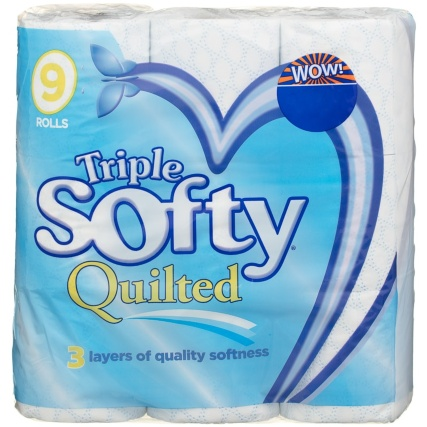 Triple Softy Toilet Roll 9pk