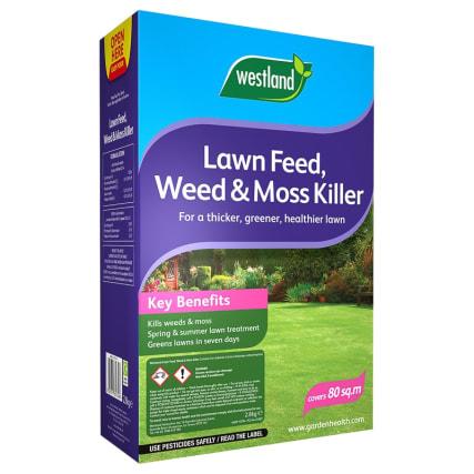B Amp M Westland Lawn Feed Weed Amp Moss Killer 80sqm 235637