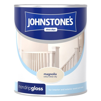 237207-Johnstones-Non-Drip-Gloss-Paint-Magnolia-750ml