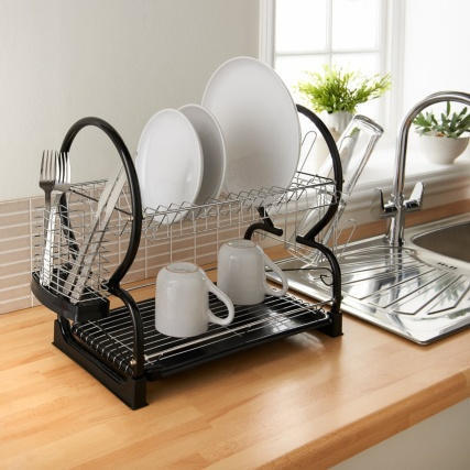 332190--2-tier-dish-drainer-black