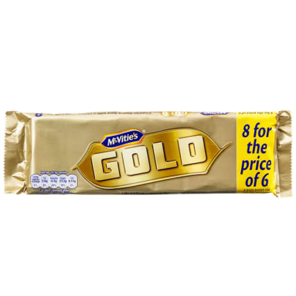 McVities Gold Biscuit Bars 8pk
