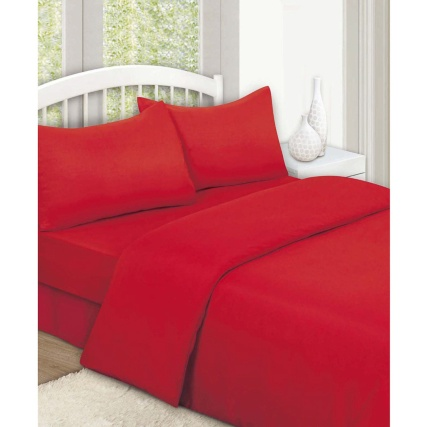 315501-315502-315503-Plain-Colour-Match-Complete-Sheet-and-Duvet-Set-red1