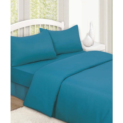 315501-315502-315503-Plain-Colour-Match-Complete-Sheet-and-Duvet-Set-teal1