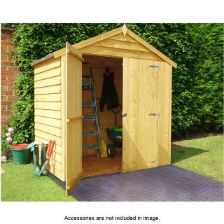 4 x 6 Double Door Overlap Apex Roof Shed