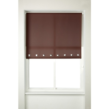 266901-Square-Roller-Blind-Chocolate