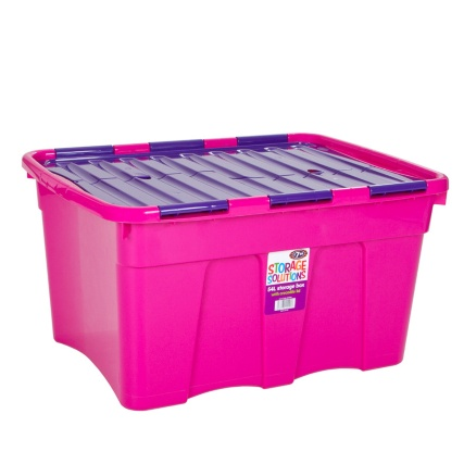269808-54-Litre-Storage-Box-Fuchsia-and-Violet