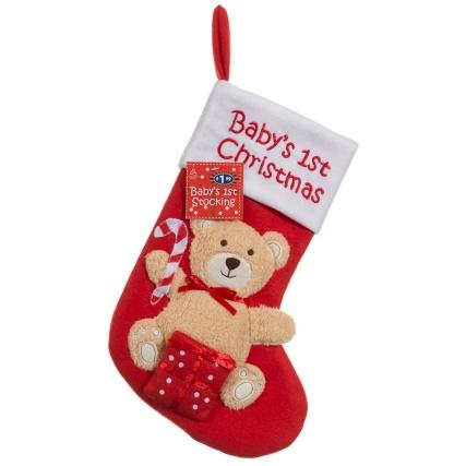 B m baby 39 s first christmas stocking christmas for Baby s first christmas decoration