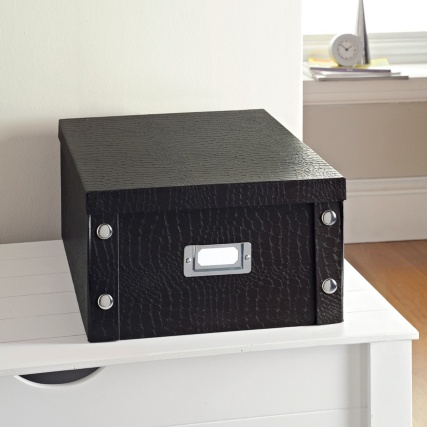 274302-Large-Storage-Box-Croc-Black