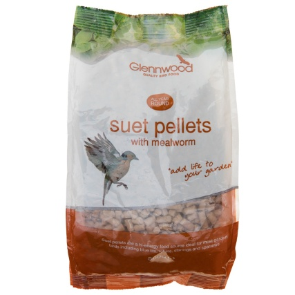 Glennwood Wild Bird Suet Pellets with Mealworm 500g
