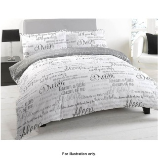 B Amp M Script Luxury King Size Duvet Set Bedding Duvet