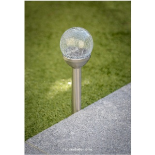 Crackle Ball Solar Post Light Garden Solar Lights