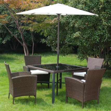 Venice Rattan Effect Patio Set 6pc