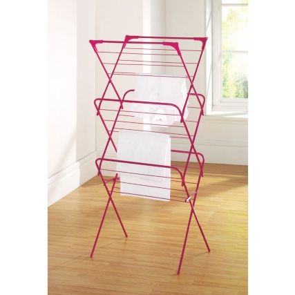 277325-3-tier-concertina-airer-pink