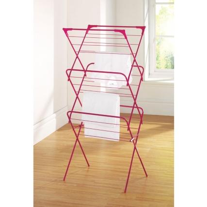 339816-3-tier-concertina-airer-pink