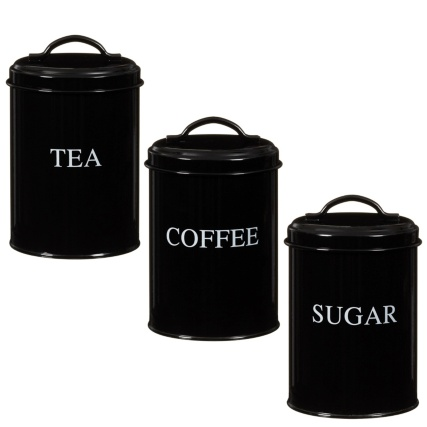 281347-Set-of-3-Enamel-black-Storage-Tins-tea-coffee-sugar