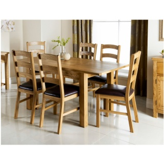 Wiltshire Oak Dining Set 7pc