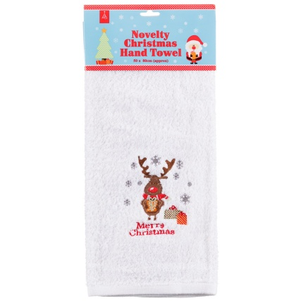 284905-Novelty-Christmas-Hand-Towel-merry-christmas-reindeer1