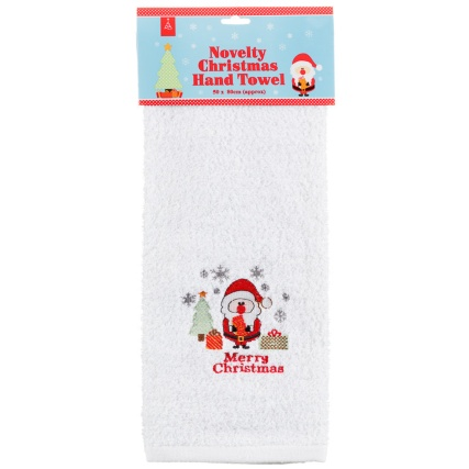 284905-Novelty-Christmas-Hand-Towel-merry-santa1