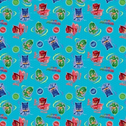 Character Wrapping Paper Pj Masks 3m Gift Wrap B Amp M