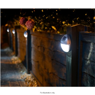 Solar Powered Fence Lights 10pk Garden Solar Lights