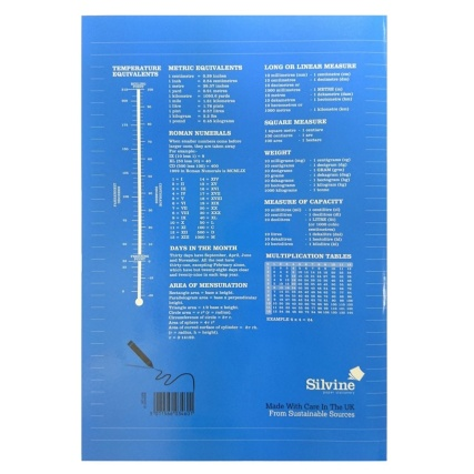 289786-B&M-EXERCISE-BOOK-A4-Blue-Reverse
