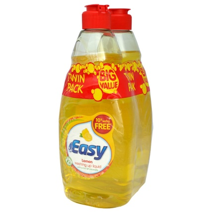 Easy Washing Up Liquid - Lemon 2 x 550ml