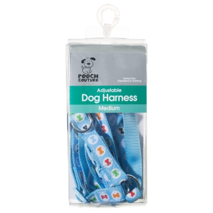 291041-Dog-Harness-Medium-Blue-with-Bones