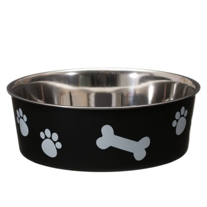291073-Non-Slip-Stainless-Steel-Black-Dog-Bowl-25cm