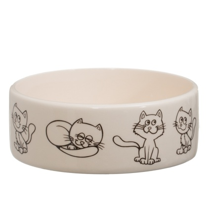 291253-Small-Seramic-Pet-Bowl-cat-prints-2