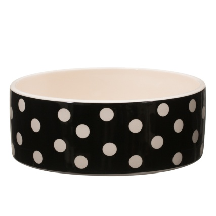 291254-Ceramic-Dog-Bowl---Black-Spots