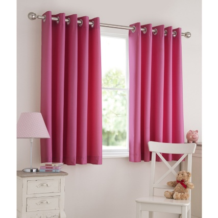 Kids Light Reducing Eyelet Curtains 66 x 54