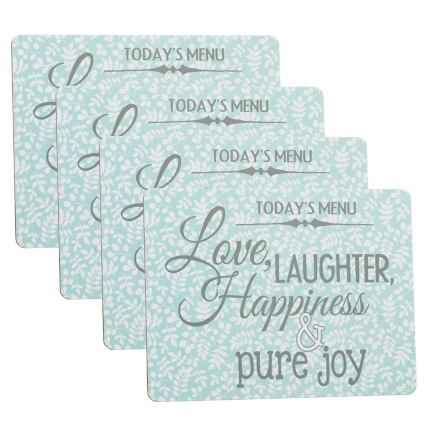 291546-4-Pack-Placemats-love-laughter-happiness-slogan-main1