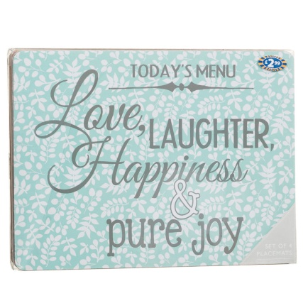 291546-4-Pack-Placemats-love-laughter-happiness-slogan1