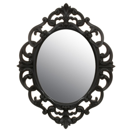 B Amp M Small Ornate Oval Mirror 295297 B Amp M