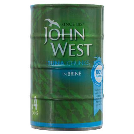 295819-John-West-Tuna-Chunks-in-Brine-4x145g
