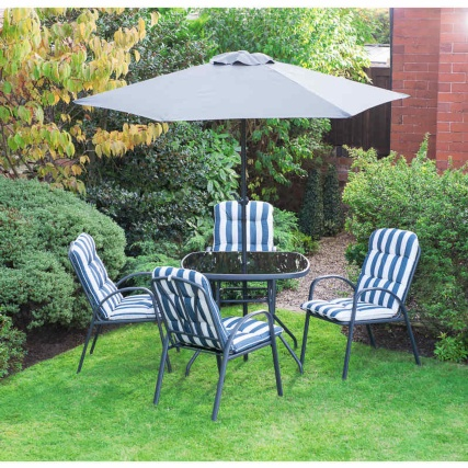 Aspen Padded Patio Set 6pc