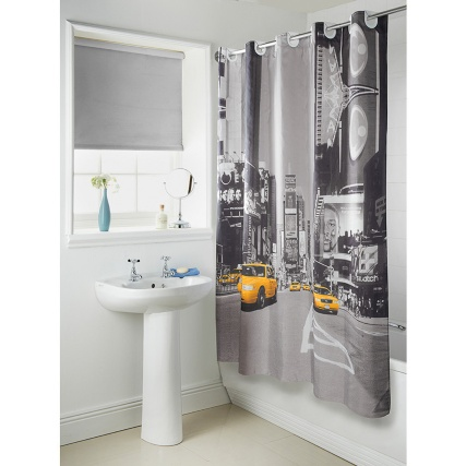 Hookless New York Cityscape Shower Curtain