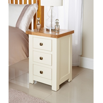 Lincoln 3 Drawer Bedside Table