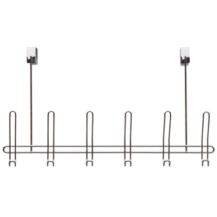 Beau 316397 6 Chrome Finish Overdoor Hooks 21