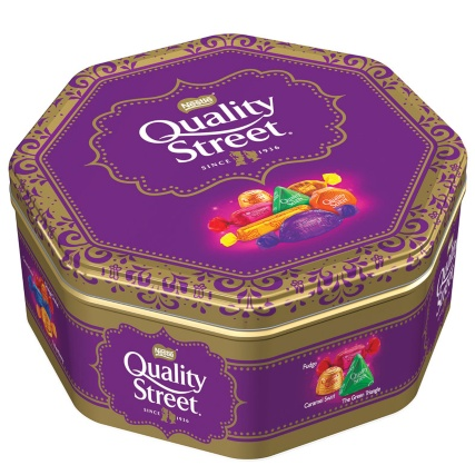 £ @ Sainsbury's - only a penny cheaper but they all add up! Plus their offer is on Quality Street, Hero's and Roses too.