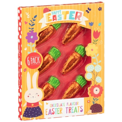 Foil Wrapped Chocolate Easter Carrots 6pk