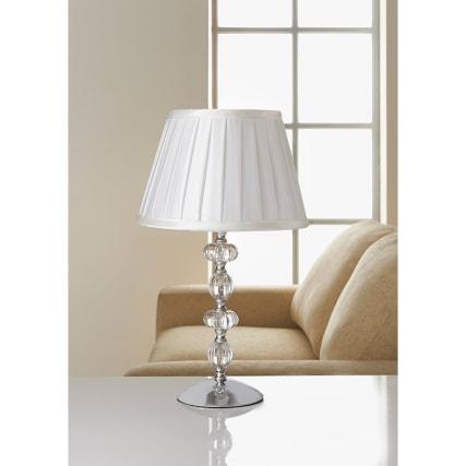 Georgia Glass Ball Table Lamp Cream Home Decor Lighting