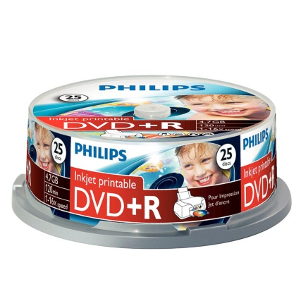 300544-PHILIPS 25 PACK DVDR