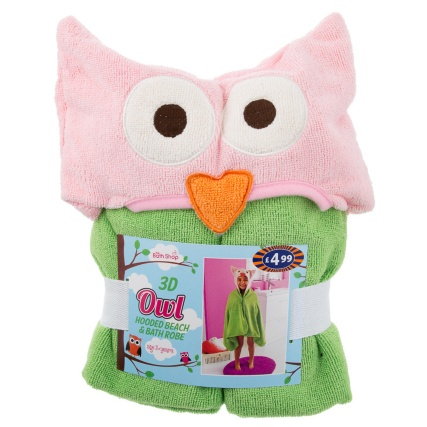 300840-Kids-Hooded-Beach--Bath-Robe-owl