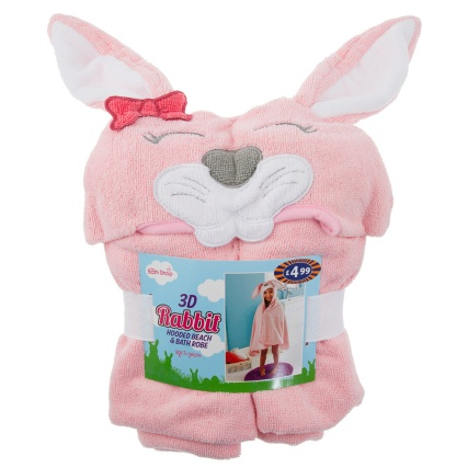 300840-Kids-Hooded-Beach--Bath-Robe-rabbit