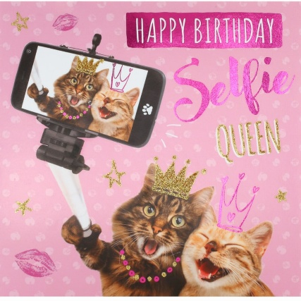 301168--birthday-card-selfie-queen