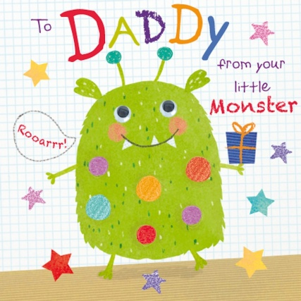 Monster Daddy Birthday Card